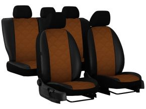 Housse de siège de voiture sur mesure Cuir - Imprimé VOLKSWAGEN CRAFTER FL 1+1 (2017→)