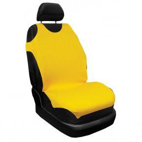 T-shirts couvertures de siège de voiture 100% Coton, jaune, avant 2pcs, 16A