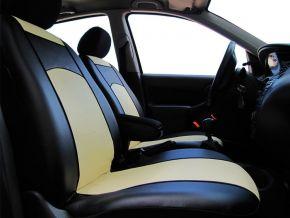 Housse de siège de voiture sur mesure Cuir RENAULT CAPTUR (2013-2019)