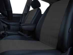 Housse de siège de voiture sur mesure Cuir - Imprimé SKODA FABIA