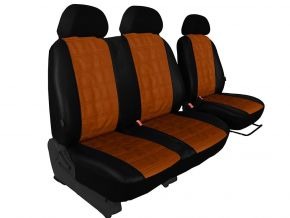 Housse de siège de voiture sur mesure Cuir - Imprimé CITROEN BERLINGO 2+1 (1996-2015)