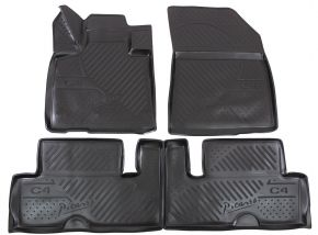 Tapis de voiture CITROEN C4 Picasso  2014-up 4 pcs