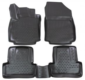 Tapis de voiture RENAULT Clio IV 2012-up 4 pcs