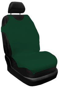 T-shirts couvertures de siège de voiture 100% Coton, verte, avant 2pcs