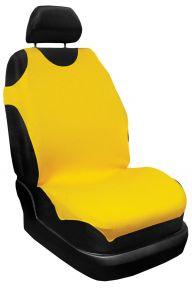 T-shirts couvertures de siège de voiture 100% Coton, žltá, jaune 2pcs + arriére