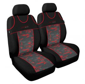 T-shirts couvertures de siège de voiture Limited, rouge avant 2pcs