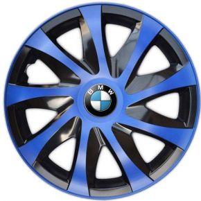 """Enjoliveurs pour BMW 16"""", DRACO BLEUES 4 pcs"""