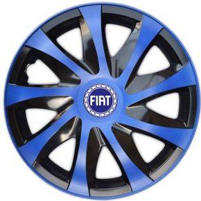 """Enjoliveurs pour FIAT BLUE  14"""", DRACO BLEUES 4 pcs"""