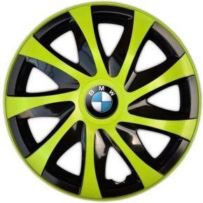 """Enjoliveurs pour BMW 15"""", DRACO VERTES 4 pcs"""
