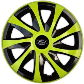 "Enjoliveurs pour FORD 16"", DRACO VERTES 4 pcs"