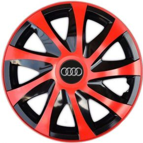 "Enjoliveurs pour AUDI 16"", DRACO ROUGES 4 pcs"