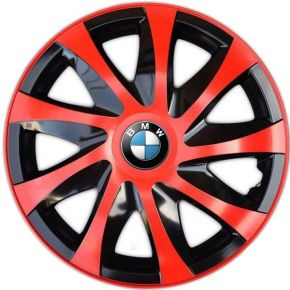 "Enjoliveurs pour BMW 14"", DRACO ROUGES 4 pcs"
