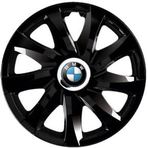 """Enjoliveurs pour BMW 16"""", DRIFT NOIRS LAQUÉS 4 pcs"""