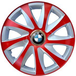 """Enjoliveurs pour BMW 15"""", DRIFT EXTRA rouge-argent 4pcs"""
