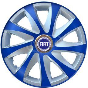 """Enjoliveurs pour FIAT 14"""", DRIFT EXTRA bleu-argent  4pcs"""