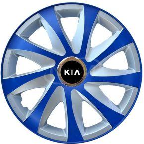 """Enjoliveurs pour KIA 15"""", DRIFT EXTRA bleu-argent  4pcs"""