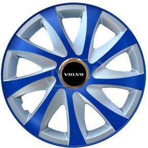 """Enjoliveurs pour VOLVO 14"""", DRIFT EXTRA bleu-argent  4pcs"""