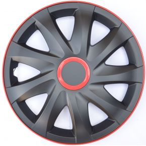"Enjoliveurs pour SKODA 14"", KANDO RACE rouge 4pcs"