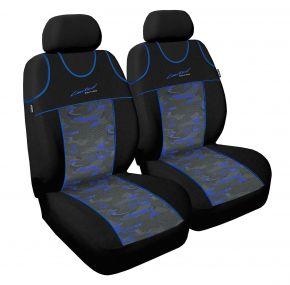 T-shirts couvertures de siège de voiture Limited, bleu, avant 2pcs
