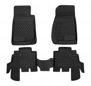 Tapis de voiture JEEP WRANGLER 4 DOORS 2007-up, 4 pcs