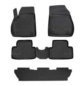 Tapis de voiture OPEL ZAFIRA C 2012-up, 5 SEATS 5 pcs