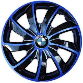 """Enjoliveurs pour BMW 15"""", QUAD BICOLOR BLEUES 4 pcs"""
