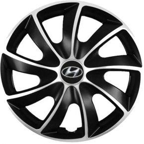 """Puklice pre Hyundai 17"""", Quad bicolor, 4 ks"""