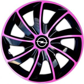 "Enjoliveurs pour OPEL 14"", QUAD BICOLOR ROSES 4 pcs"
