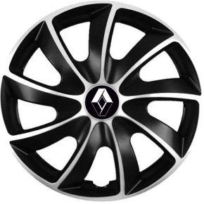 """Puklice pre Renault 15"""", Quad bicolor, 4 ks"""