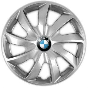 """Enjoliveurs pour BMW 15"""", QUAD GRIS 4 pcs"""