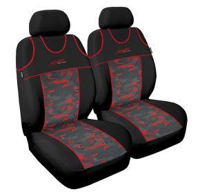 T-shirts couvertures de siège de voiture Stylus, rouge avant 2pcs