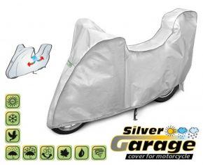 Toile de protection pour moto SILVER GARAGE 215-240 cm + coffre voiture