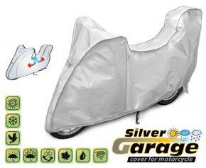 Toile de protection pour moto SILVER GARAGE 240-265 cm + coffre voiture