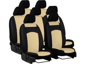 Housse de siège de voiture sur mesure Cuir STANDARD VOLKSWAGEN TOURAN I 7p. (2003-2010)