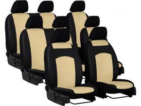 Housse de siège de voiture sur mesure Cuir STANDARD PEUGEOT TRAVELLER 8p. (2016-2020)