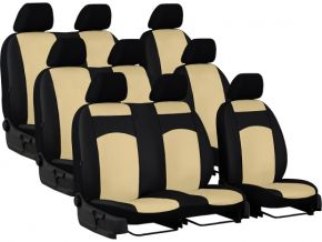Housse de siège de voiture sur mesure Cuir VOLKSWAGEN T5 9p. (2003-2015)