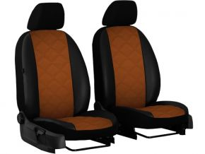 Housse de siège de voiture sur mesure Cuir - Imprimé RENAULT TRAFIC II 1+1 (2001-2014)