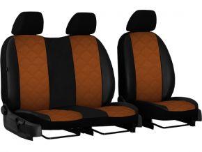 Housse de siège de voiture sur mesure Cuir - Imprimé FIAT DOBLO IV 2+1 (2015→)