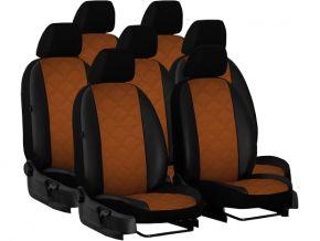 Housse de siège de voiture sur mesure Cuir - Imprimé IVECO DAILY VI 2+1+4 (7p.) (2014-2020)