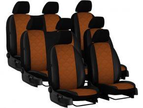 Housse de siège de voiture sur mesure Cuir - Imprimé RENAULT TRAFIC II 8p. (2001-2014)