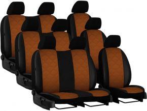 Housse de siège de voiture sur mesure Cuir - Imprimé VOLKSWAGEN T5 9p. (2003-2015)