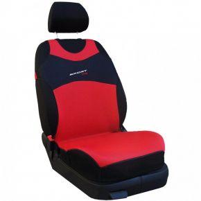 T-shirts couvertures de siège de voiture Sport Line, rouge, avant 2pcs