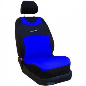 T-shirts couvertures de siège de voiture Sport Line, bleu, avant 2pcs