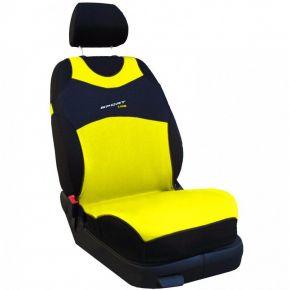 T-shirts couvertures de siège de voiture Sport Line,jaune, avant 2pcs