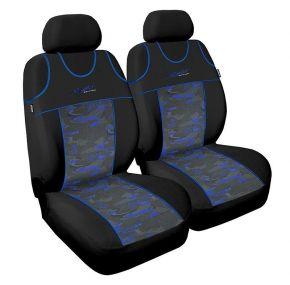 T-shirts couvertures de siège de voiture Stylus, bleu, avant 2pcs