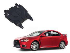 Protections moteur et boîte de vitesses Mitsubishi Lancer X 1,5; 1,8; 2,0 2007-2016
