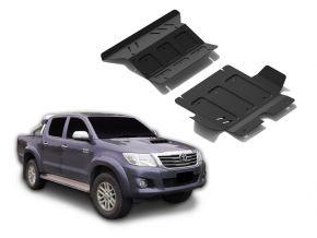 Couvert moteur et radiateur en acier pour Toyota Hilux 2,5TD; 3,0TD; 2,7  2007-2015