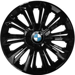 """Enjoliveurs pour BMW 15"""", STRONG NOIRS LAQUÉS 4 pcs"""