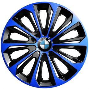 """Enjoliveurs pour BMW 15"""", STRONG DUOCOLOR BLEUS-NOIRS 4 pcs"""