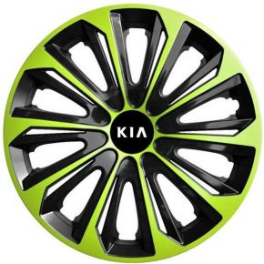 "Enjoliveurs pour KIA 16"", STRONG DUOCOLOR VERTES-NOIRS 4 pcs"